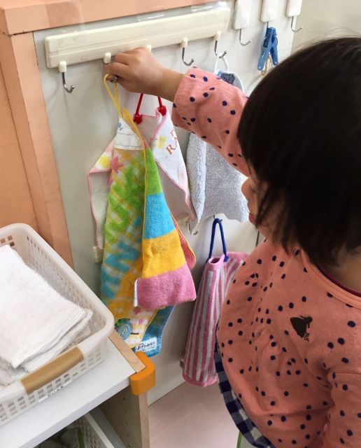 日常生活の動作を自然な形で覚えていけるように工夫を凝らしている=東京都文京区の「富坂子どもの家」
