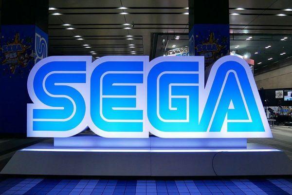 セガフェス会場入り口に設置されていた「SEGA」のロゴモニュメント