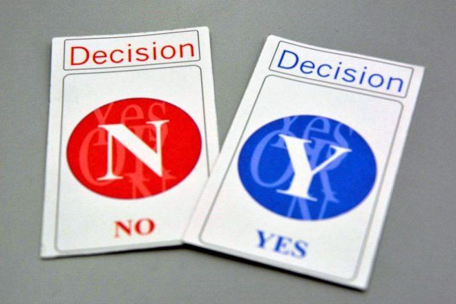 クロスロードで使う「YES」と「NO」のカード