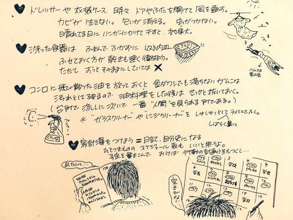 カラサキさんの母が書いた「独り暮らし攻略本」の一部