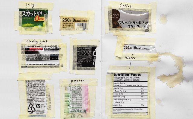「カロリーゼロ」などの日本の食品ラベルを集めたページ