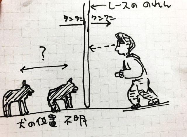 犬との距離が読めない(イラスト・山下メロ)