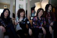 「THE YELLOW MONKEY」(左から)菊地英二、廣瀬洋一、吉井和哉、菊地英昭=東京都新宿区、村上健撮影