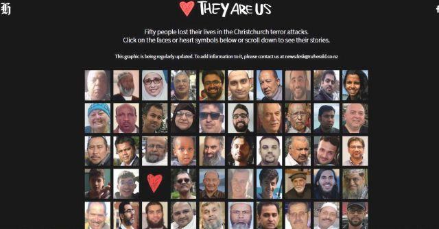 地元紙「ニュージーランド・ヘラルド」は、犠牲者を追悼する記事を掲載している