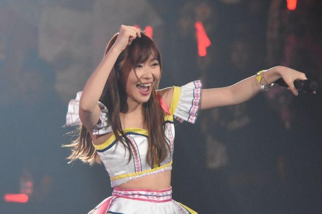 28日の横浜でのコンサートでAKB48グループを卒業する指原莉乃さん(写真は2018年2月、春のアリーナツアー初日神戸公演)