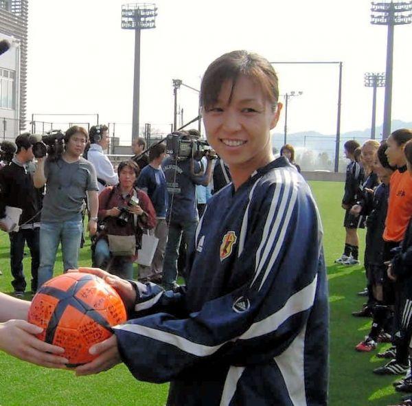 2004年4月、日本代表選手当時の大部由美さん