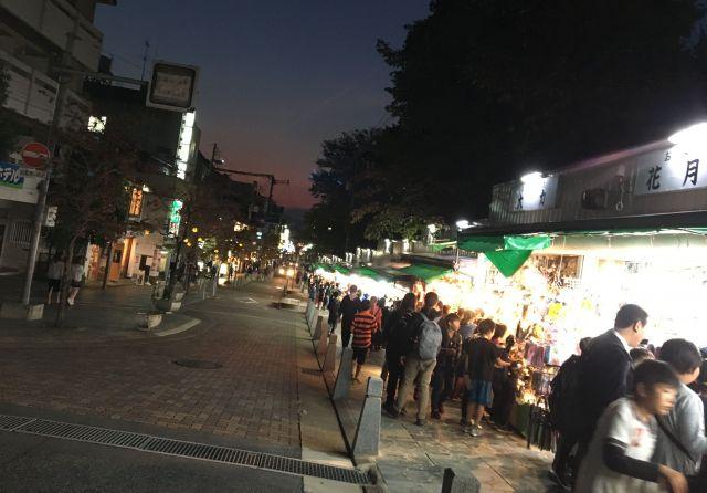 活気づく猿沢商店街