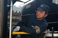 SLに乗り続けて約20年になる宅野孝則さん=2019年4月6日、山口市惣太夫町、藤野隆晃撮影