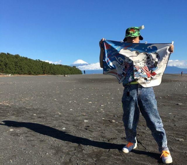 三保の松原。遠くに富士山が見える