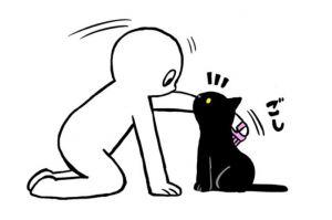ブラッシングしたいのに…自意識高めな猫との生活、愛らしい絵日記に