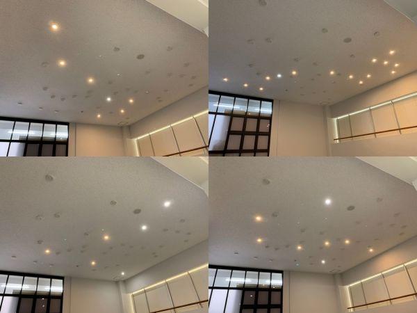 4つのスイッチにはそれぞれ「春」「夏」「秋」「冬」とシールが貼られており、春を押すと北斗七星、夏を押すとさそり座といった具合に、季節を代表する星座が天井に浮かび上がります