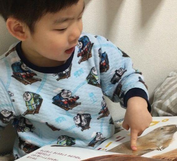 寝る前に絵本を指して動物の名前を教えてくれる息子。親にとっても癒やしの時間なのですが…