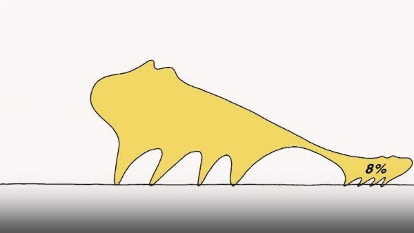 「イヌのような生き物」が登場する動画の一場面