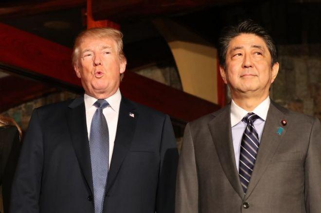 2017年11月にあった日米首脳会談では、レストラン「銀座うかい亭」で安倍晋三首相とトランプ米大統領が夕食をともにした=鬼室黎撮影