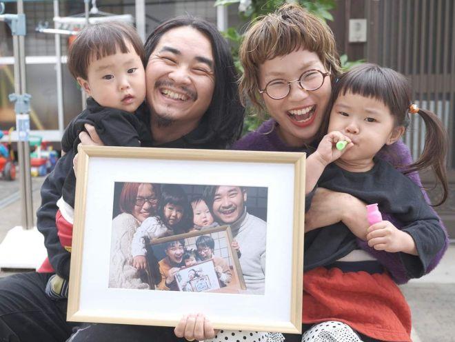こんな家族写真も