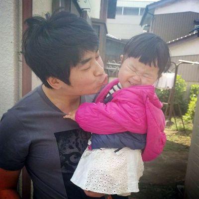2017年4月、まだ髪を伸ばす前の熊田さんと長女