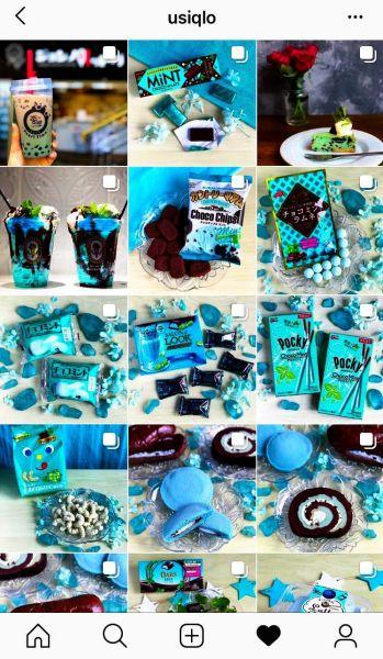 うしくろさんのインスタグラム(https://www.instagram.com/usiqlo/)には、様々なチョコミントの写真が並ぶ