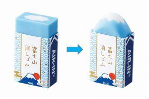 使うほど富士山になる消しゴム 学生時代に発案、入社4年目で商品化