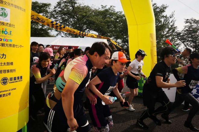 足利市の織姫公園で開かれた「足利ファンラン」=6月21日