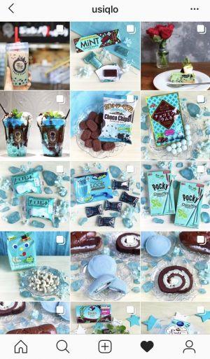 うしくろさんのインスタグラムには、様々なチョコミントの写真が並ぶ