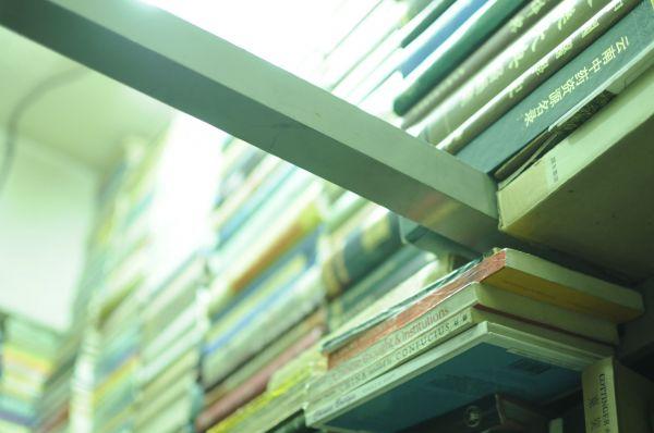 一見無造作に積み重なっているように見える本たちは、絶妙なバランスを保って並べられているのだ。ここまで来ると、芸術的だ=今村優莉撮影