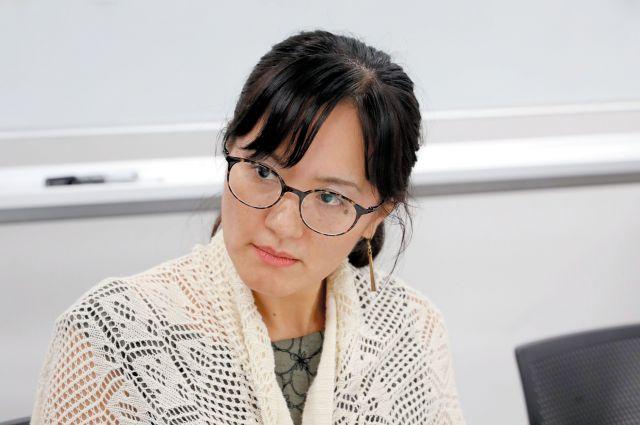 山田さん=朝日新聞名古屋本社、川津陽一撮影