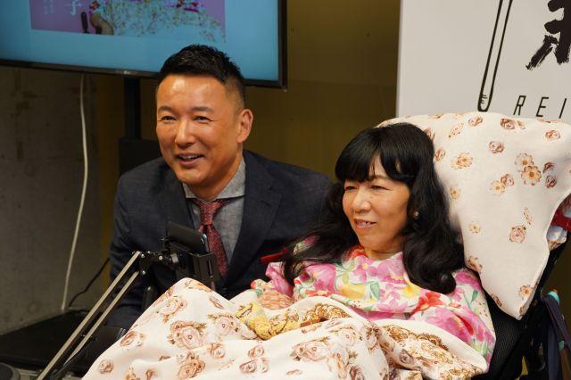 れいわ新選組から立候補した木村英子氏。重度障害がある。