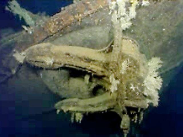 2015年、米マイクロソフト共同創業者のポール・アレン氏がフィリピン沖の海底で旧海軍の戦艦「武蔵」を発見したとして公開した動画から。武蔵は1944年10月にフィリピン沖で米軍機の攻撃により沈没した。