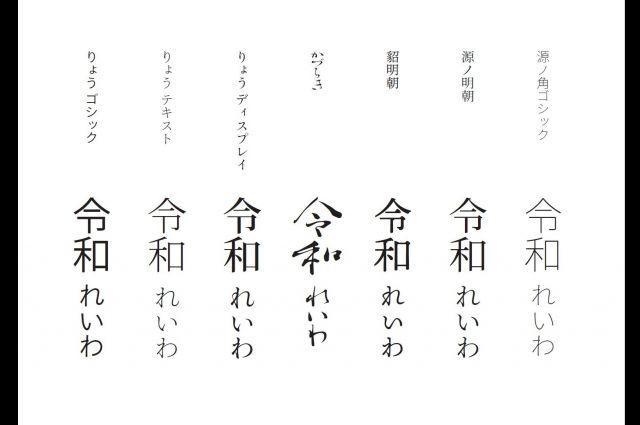 西塚涼子さんが手がけたフォント=西塚涼子さん提供