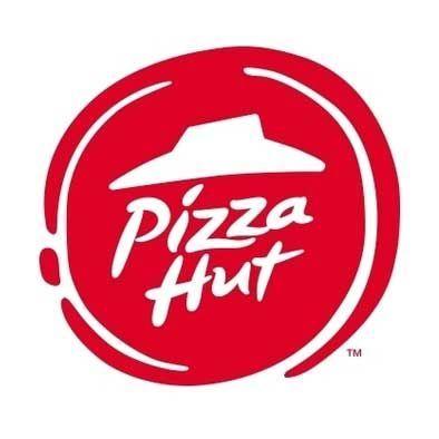 ピザハットのロゴ。描かれているのは帽子ではなく小屋です