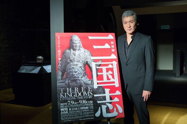 特別展「三国志」で音声ガイドを務めた歌手の吉川晃司さん。中国古代史の大ファンという=山本倫子撮影