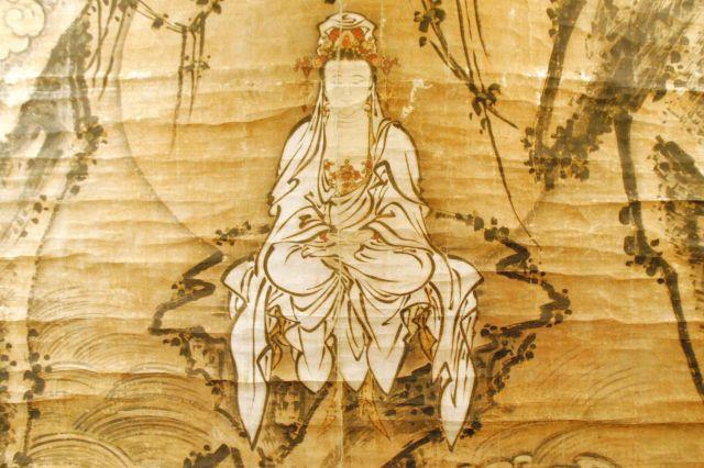 京都市の東福寺が保管する「白衣観音図」