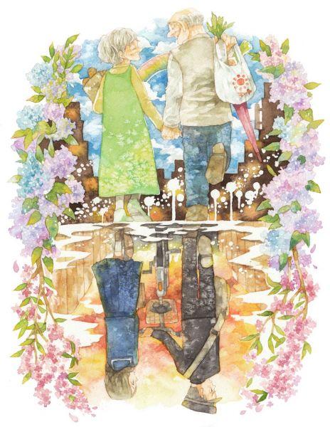 稲空穂さんの水彩イラスト