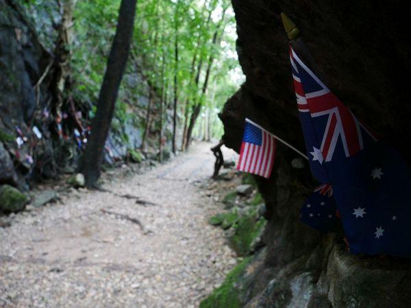 泰緬鉄道の建設中にはオーストラリア軍やイギリス軍の捕虜が犠牲になった