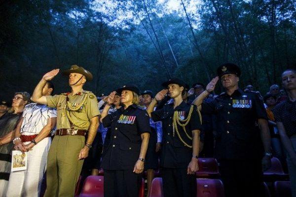 泰緬鉄道の建設に携わった連合国側の捕虜の追悼式が毎年開かれる