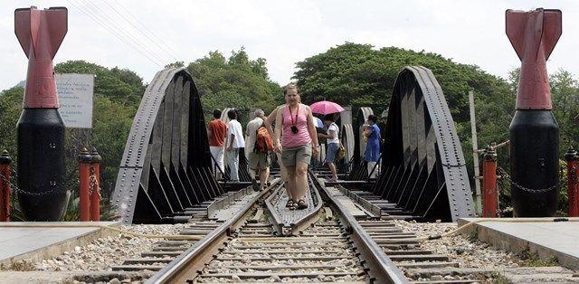 「戦場にかける橋」の映画の効果もあり、多くの観光客がカンチャナブリを訪れる