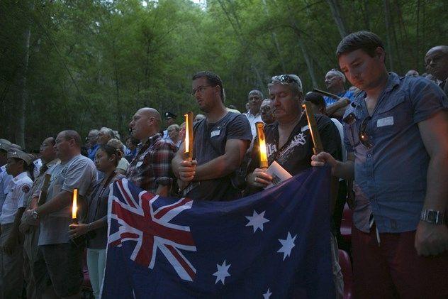 泰緬鉄道の建設現場では今も毎年、オーストラリア政府などが主催する追悼集会が開かれる