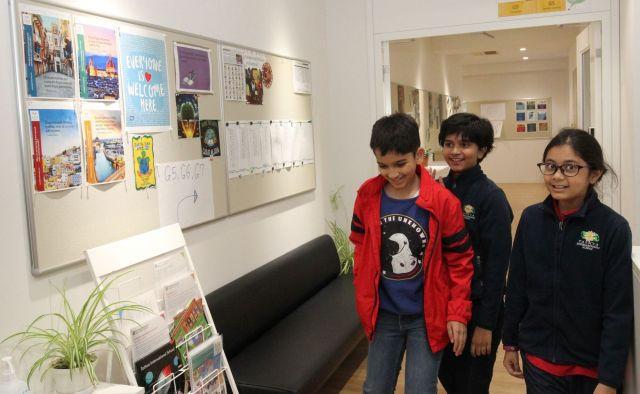 新しい建物には、旧校舎から一部の生徒が移った=タトゥワインターナショナルスクール木場キャンパス(東京都江東区)