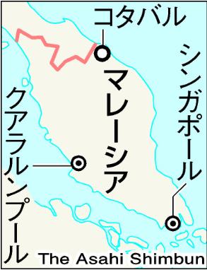 1941年12月に日本軍が上陸したコタバル