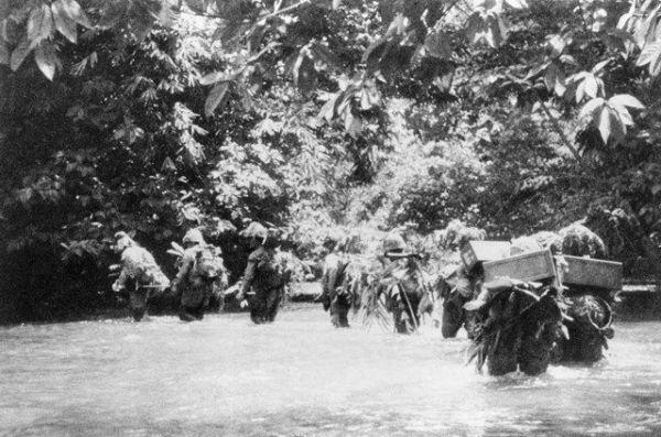 マレー作戦中の日本軍