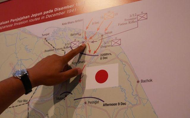 日本軍のは三つの隊に分かれてコタバルに上陸した=2019年8月、マレーシア・コタバル