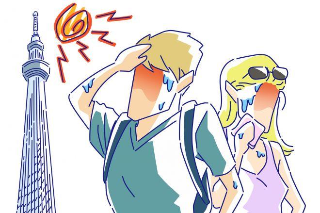 連日続く、真夏の猛暑。熱中症対策が広く呼びかけられています。日本を訪れる外国人にとっても、決して他人事ではありません。もし、目の前で発症してしまったら? 適切に対処する方法について考えます。(画像はイメージ)
