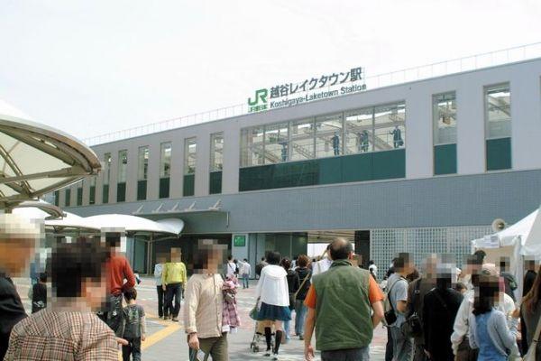 越谷レイクタウン駅=2008年4月撮影