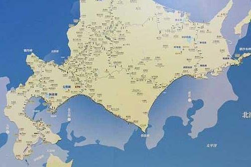 「札幌―釧路」は「東京―名古屋」と同じくらいの距離だとひと目でわかります=2018年12月撮影、JR北海道提供