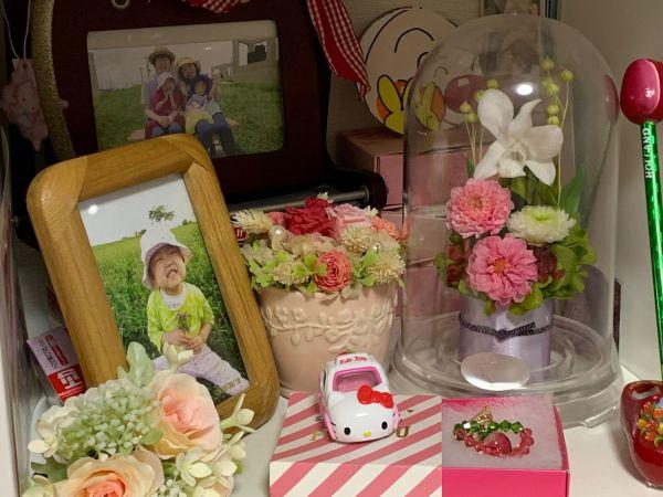 自宅に飾られていた添田侑花ちゃんの写真