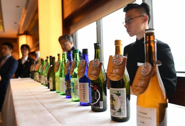 北京で開かれた日本酒コンテスト「2019 SAKE-China」=冨名腰隆撮影
