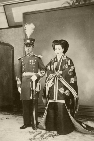 愛新覚羅溥傑氏と嵯峨浩氏の結婚式=1937年4月3日撮影 東京・九段の軍人会館