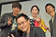 8月にあった、著書「この顔と生きるということ」の出版記念イベントで、出演者とともに記念撮影する筆者(前列)