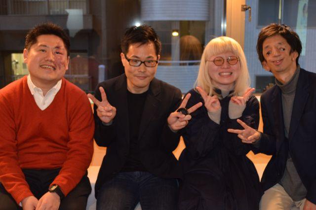 中高生との交流イベント「ミタメトーク!」に協力してくれた当事者と記念撮影する筆者