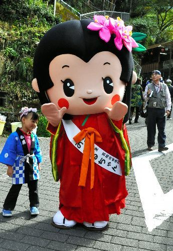椎葉村のマスコットキャラクター「おつるちゃん」
